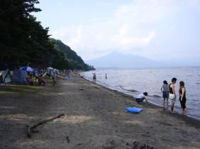 崎川浜_Sakka Beach[猪苗代湖!ぐるっと一周・浜紹介]