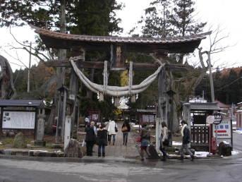 新宮熊野神社の長床(喜多方市)【会津考察#20】
